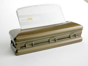 Coffin Business Card And Pen Holder.