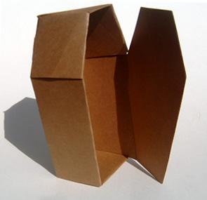 Brown Cardboard Coffin (12 pack)