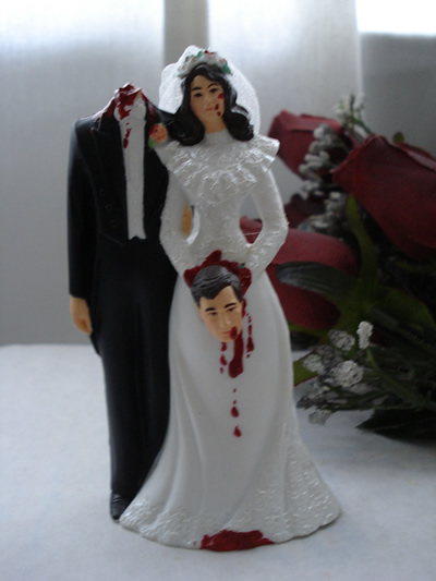 Bloody Bride And Groom Cake Topper (choBBGtopper)